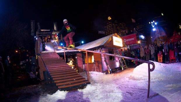 Amnesia Shack Attack 2013: une pente de ski sur la rue St-Denis