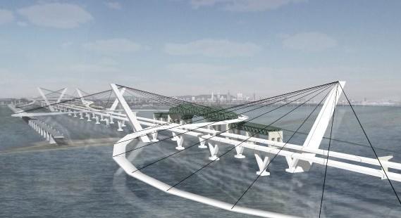 Le Pont Champlain, transformé en piste de ski artificielle d'ici 2017