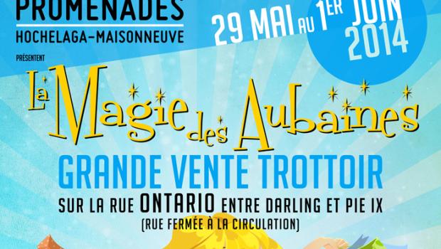La Magie des Aubaines à Hochelaga: vente de trottoir du 29 mai au 1er juin
