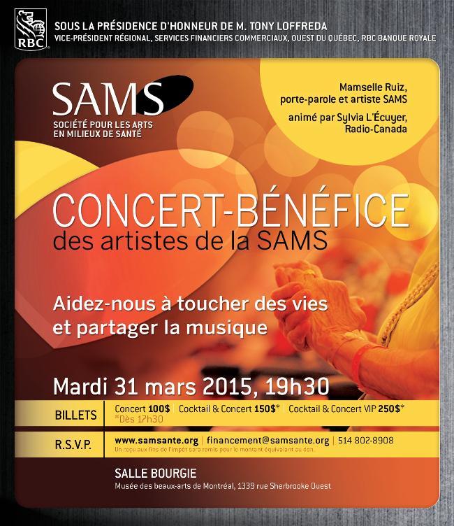 Concert Benefice SAMS Mamzelle Ruiz