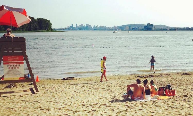 Une nouvelle plage à 15 minutes du centre ville de Montréal
